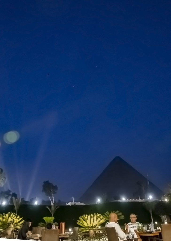 Jupiter and Antares July 2019 from Mena House, Cairo. Nikon D5100 18mm